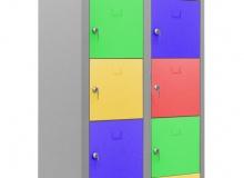 Метален шкаф с 10 отделения модел TS10, 170х87х40 см
