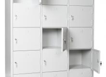 Метален шкаф с 15 отделения, 170х130х40 см, модел TB15