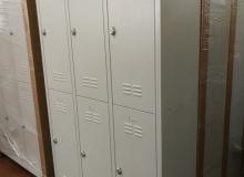Метален гардероб с 6 отделения - 200х97х37 см, модел TS06