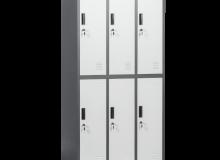 Метален шкаф CR-1243 E SAND СИВ/ГРАФИТ 185x90x45 см